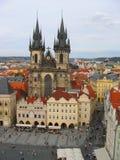 Tynsky church in Prague Stock Photo