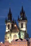 Tynsky church in Prague. Czech republic Royalty Free Stock Photography