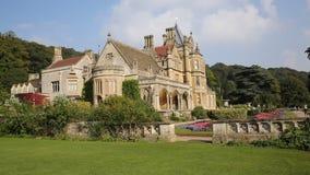Tyntesfield House near Bristol Somerset England UK a tourist attraction featuring beautiful flower gardens PAN stock video