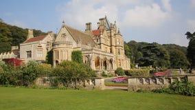 Tyntesfield House near Bristol Somerset England UK a tourist attraction featuring beautiful flower gardens stock video