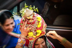 Tyohar indisk för mata för archana för traditionsgourpooja rajasthani för marwari för maheshwari för festival för teej bhakti Royaltyfria Foton