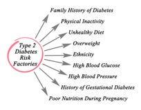 Typ - 2 cukrzycy ryzyka fabryki Obraz Stock