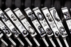 Typ een schrijfmachine Stock Afbeelding