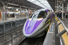 500 TYP EVA, denthemed Shinkansenen Royaltyfri Fotografi