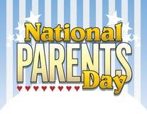 typ för 2 föräldrar för daglogo nationell Arkivfoton