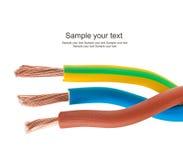 typ för europeisk ström för kabel 220v elektrisk arkivfoton