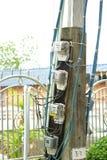 typ för europeisk ström för kabel 220v elektrisk Arkivbild