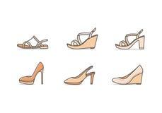 Typ kobieta buty Obrazy Royalty Free