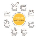 Typ masaż Obraz Royalty Free