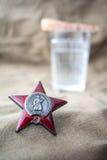 typ union för stjärna för sen militär beställning för garneringar originell röd sovjetisk Royaltyfria Foton