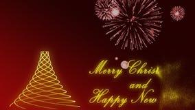 Typanimering för lyckligt nytt år stock video