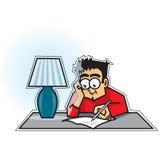 Type écrivant une lettre Images stock