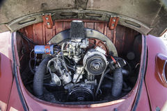 Type 1 engine compartment. Engine compartment of Volkswagon Type 1 Royalty Free Stock Photos