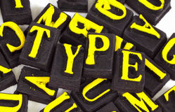 Type images stock