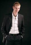 Type adulte sur le backout noir Image stock