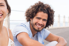Type africain de sourire Images stock