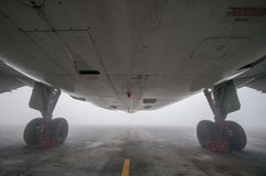 Type of aircraft on the runway Stock Photo