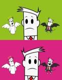 Type-ange carré et diable illustration stock