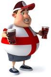 Type anglais avec des bières Photographie stock