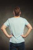 Type arrière d'homme de vue dans la chemise vide avec l'espace de copie Photos stock