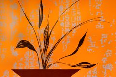 Type asiatique de peinture Photo stock