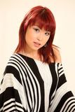 Type asiatique mignon de la fille 80s Photos libres de droits