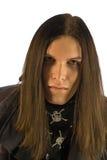 Type avec de longs cheveux Image stock