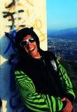 Type avec des sunglasss Photos libres de droits