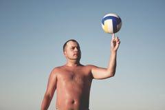 Type avec la boule Photo libre de droits