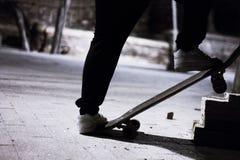 Type avec le patin image stock