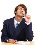 Type avec un crayon lecteur Image libre de droits