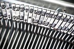 Type bars of typewriter Stock Image