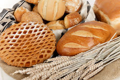 Type of bread, fruits pie, ingredients Stock Images