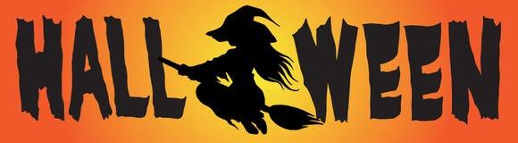 Type C de BANNIÈRE de logo de Halloween Image stock