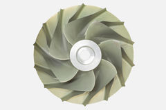 Type centrifuge roue à aubes de compresseur de turbine à gaz Photos stock