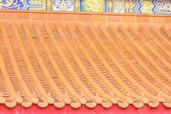 Type chinois de toit Images libres de droits