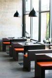 Type concret exposé dans le restaurant Photo stock