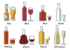 Type couleur d'alcool d'ensemble un a photo stock