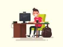 Type créatif dans le lieu de travail Illustration de vecteur illustration de vecteur