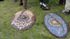 Type d'arme antique de Dacian utilisée dans les batailles banque de vidéos
