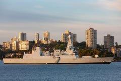 Type D32 45 destroyer audacieux de HMS classe audacieuse de d?fense a?rienne du Royal Navy en Sydney Harbor photographie stock