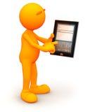 type 3d : Inscription d'un email sur la tablette illustration libre de droits