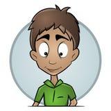 Type d'isolement d'avatars avec une expression agréable Une image plate d'un visage masculin illustration libre de droits