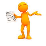 type 3d : Ne savez pas voter Photo libre de droits