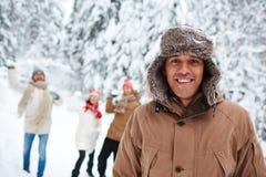 Type dans le winterwear Photo libre de droits