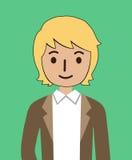 Type dans un costume Image libre de droits