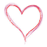 Type de crayon de coeur Photographie stock libre de droits