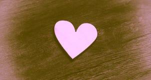 Type de cru Coeur isolé Image stock