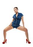 Type de hip-hop de danse de jeune fille d'isolement Images libres de droits