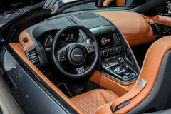 Type de Jaguar F objet exposé de SVR à l'International 2016 de New York Aut Image libre de droits